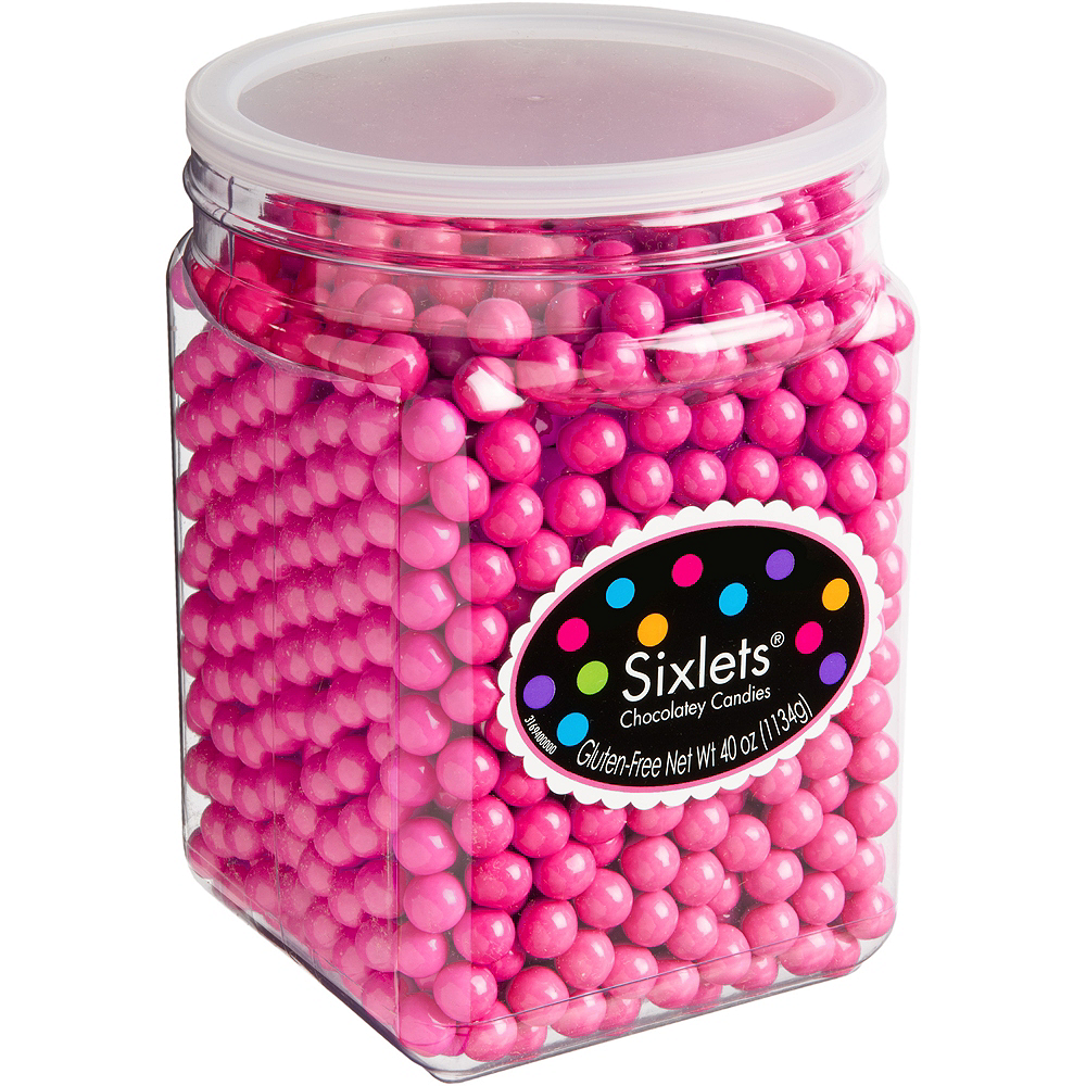 Bright Pink Chocolate Sixlets 1330pc | Party City