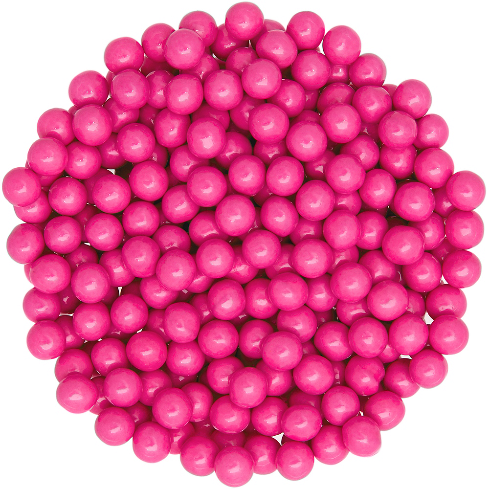 Bright Pink Chocolate Sixlets 1330pc   Party City