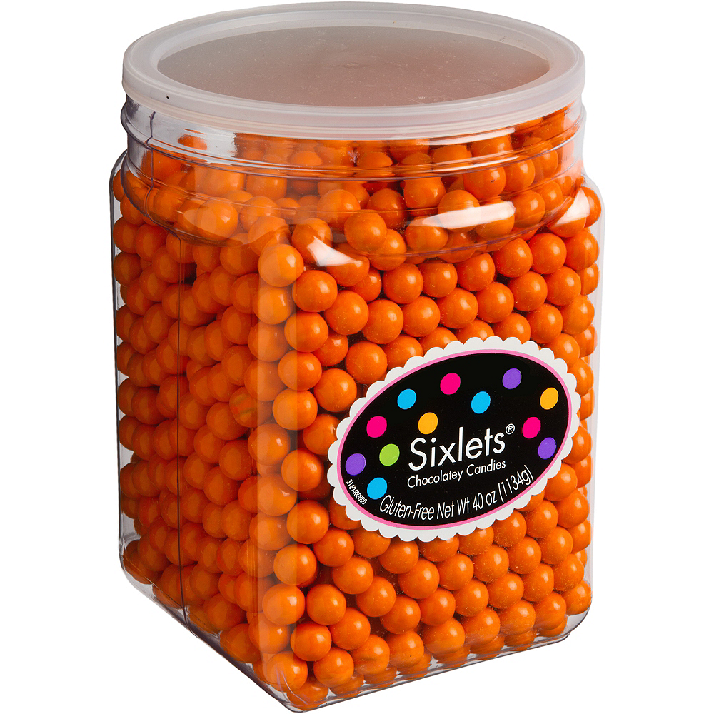 Orange Chocolate Sixlets 1330pc Image #1