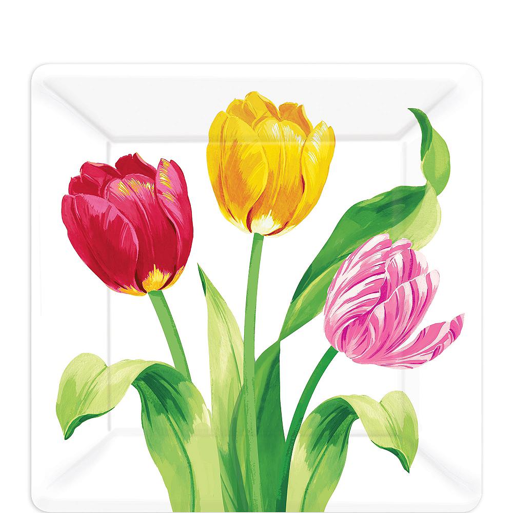 Spring Tulips Dessert Plates 8ct Image #1