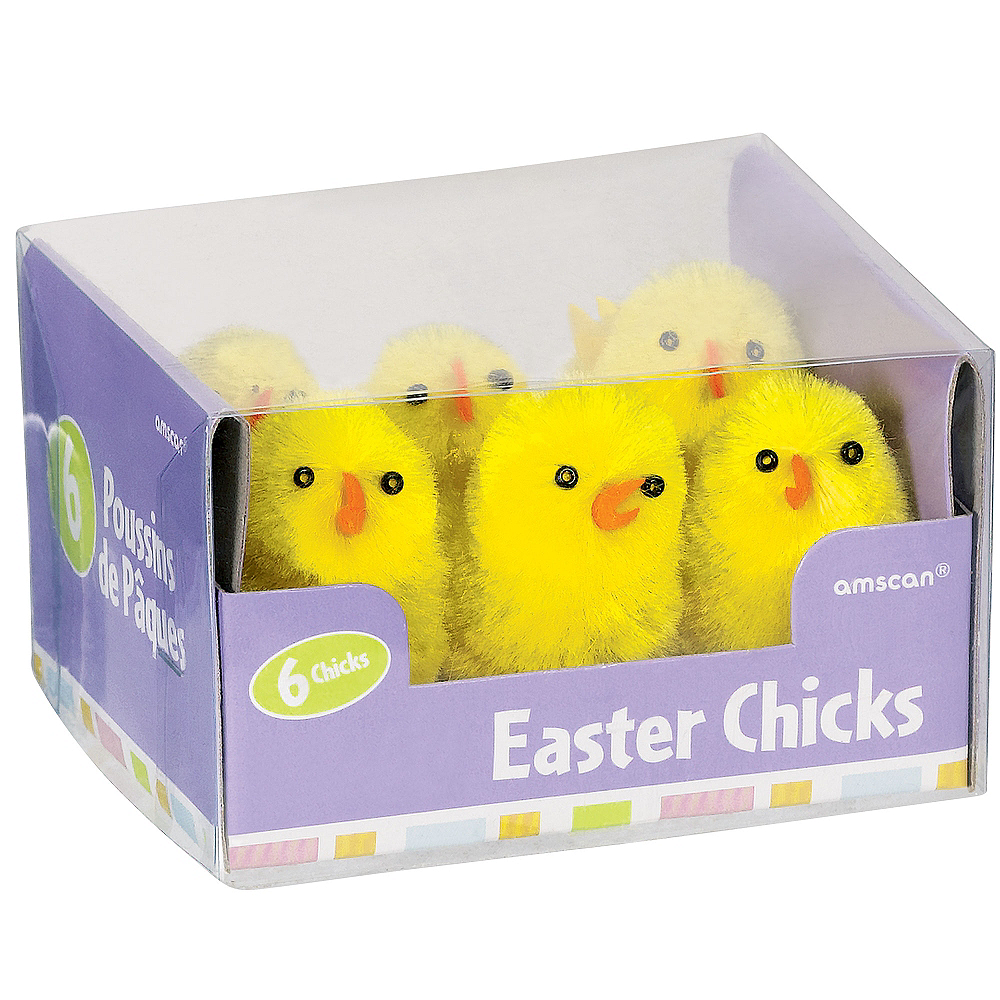 Chenille Easter Chicks 6ct Image #2