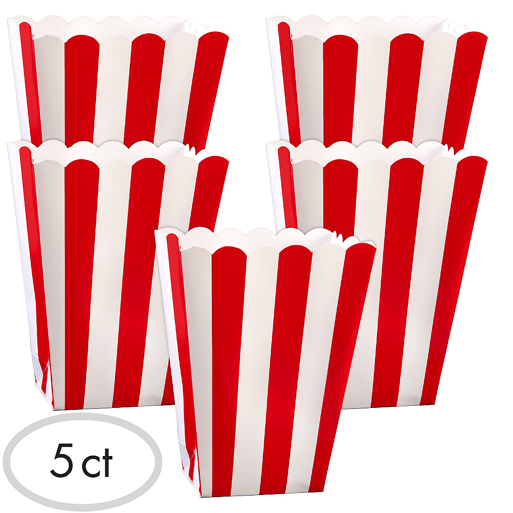 Red Popcorn Favor Boxes 5ct Image #1