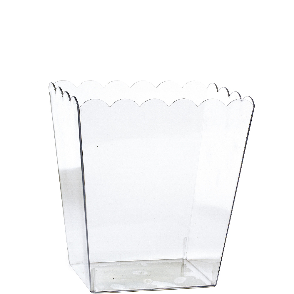 Nav Item for Small CLEAR Plastic Scalloped Container Image #1
