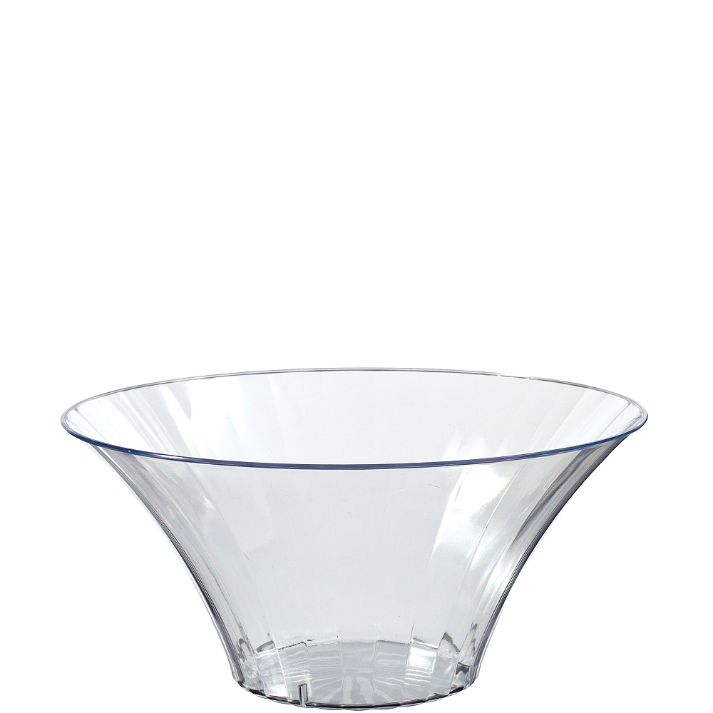 Small CLEAR Plastic Flared Bowl Image #1