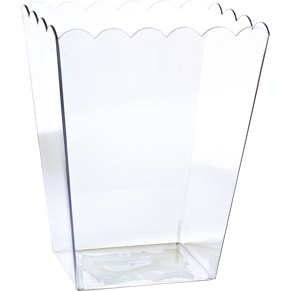 Large CLEAR Plastic Scalloped Container Image #1