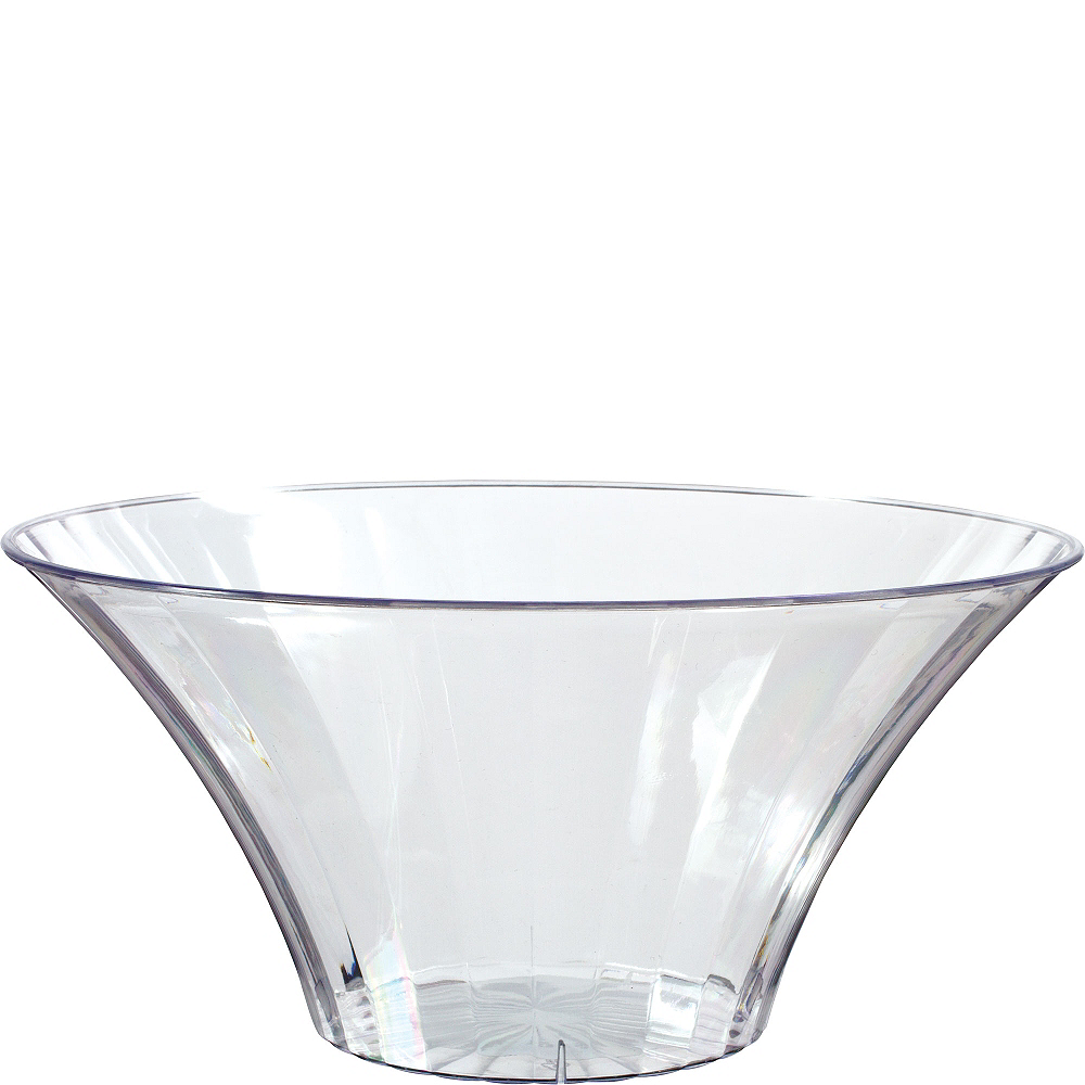 Large CLEAR Plastic Flared Bowl Image #1