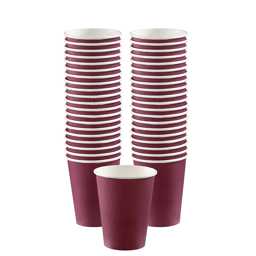 Berry Paper Coffee Cups, 12oz, 40ct Image #1