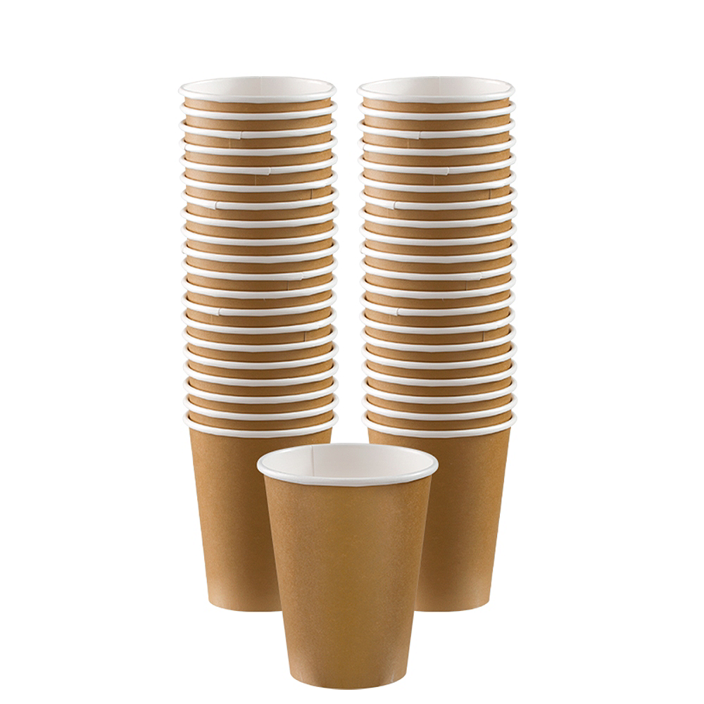 Big Party Pack Gold Paper Coffee Cups 40ct Image #1