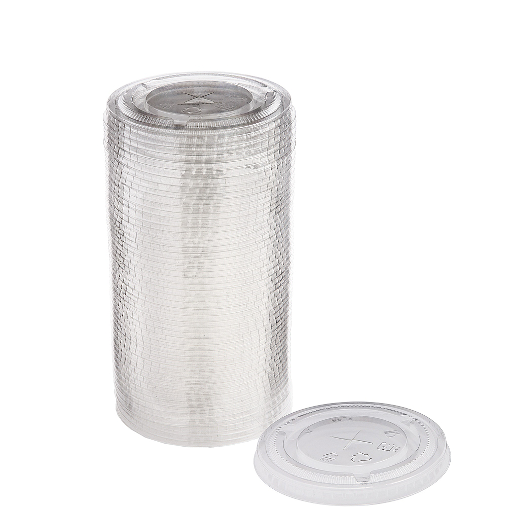 Nav Item for Big Party Pack CLEAR Plastic Cup Lids 50ct Image #1