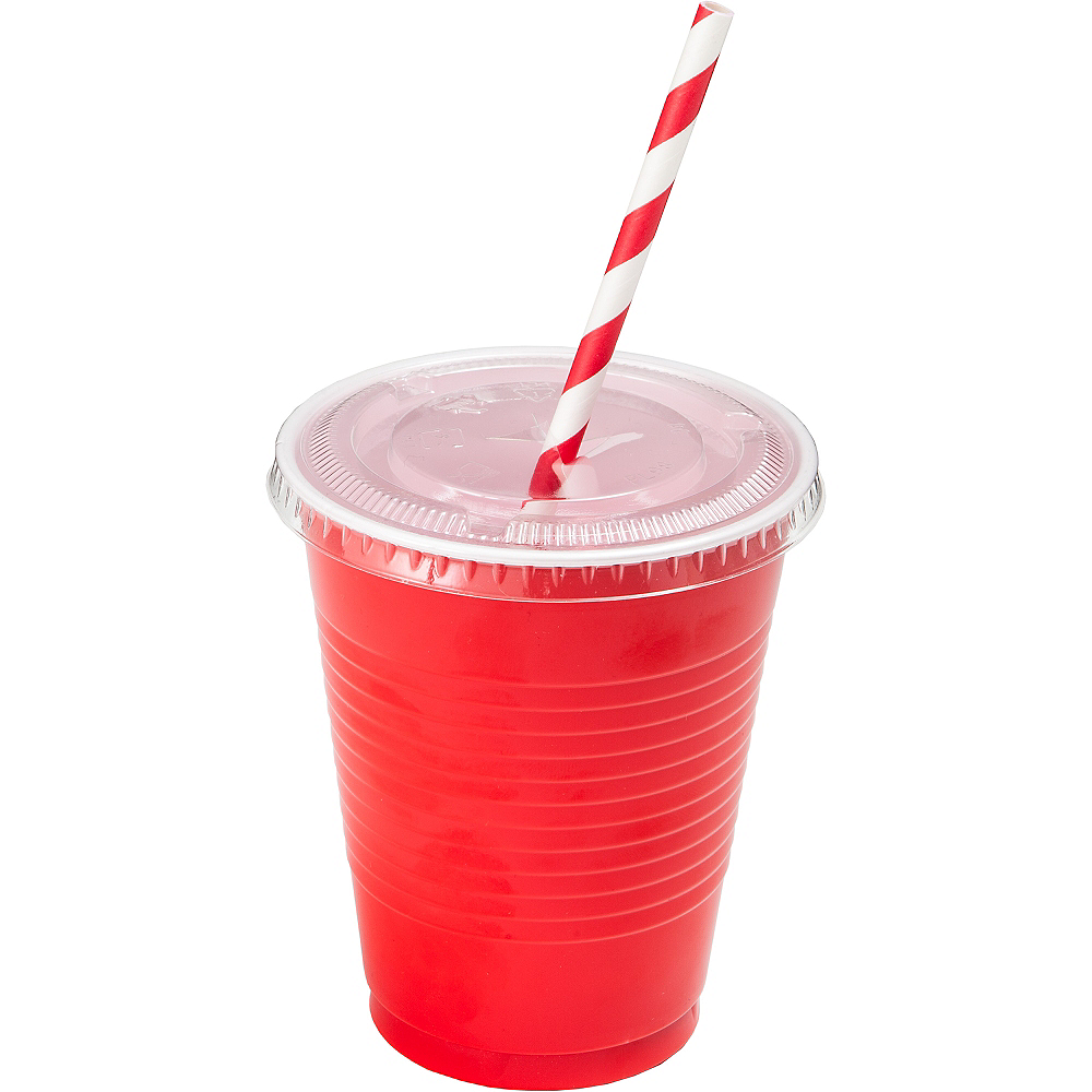 Big Party Pack CLEAR Plastic Cup Lids 50ct Image #2