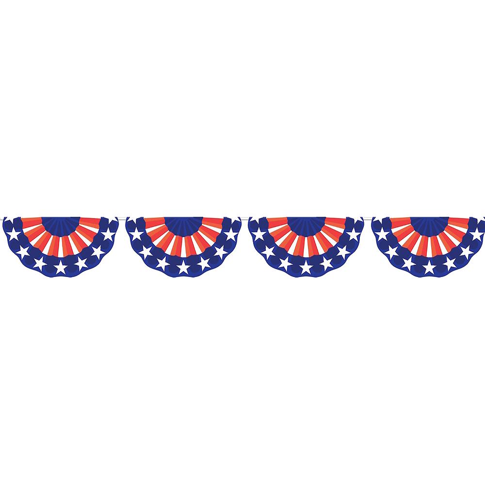 Patriotic American Flag Bunting Image #1