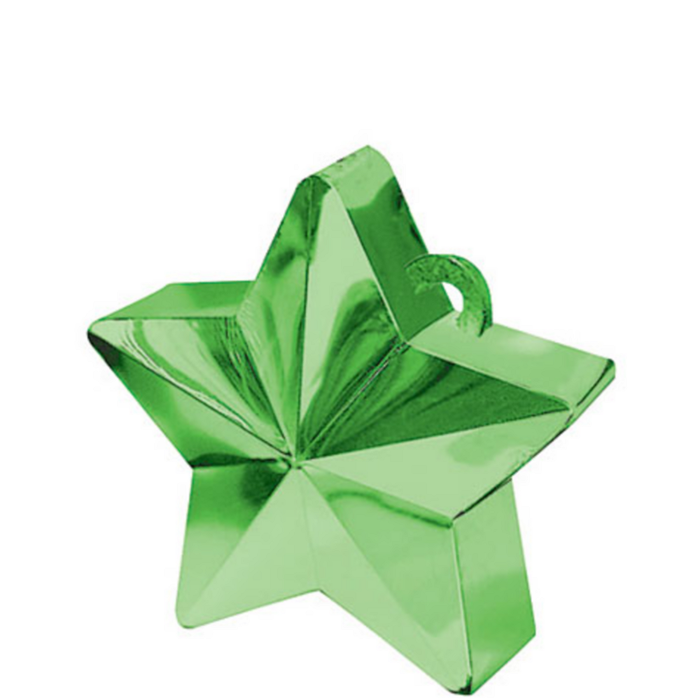Green Star Balloon Weight Image #1