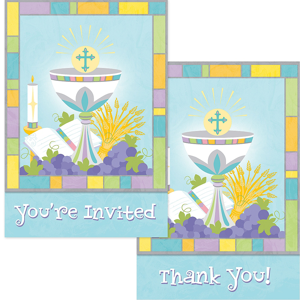 Nav Item for Joyous Communion Invitation & Thank You Note Set for 10 Image #1
