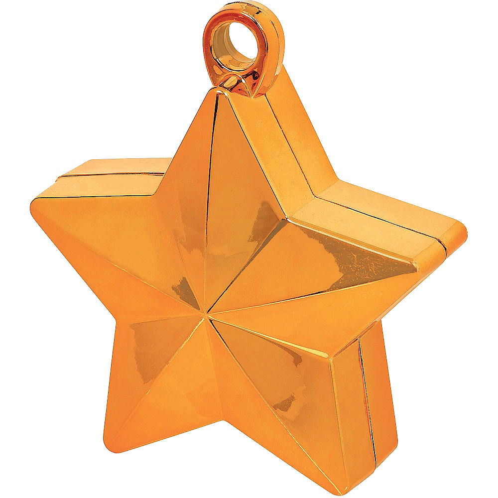 Orange Star Balloon Weight Image #1