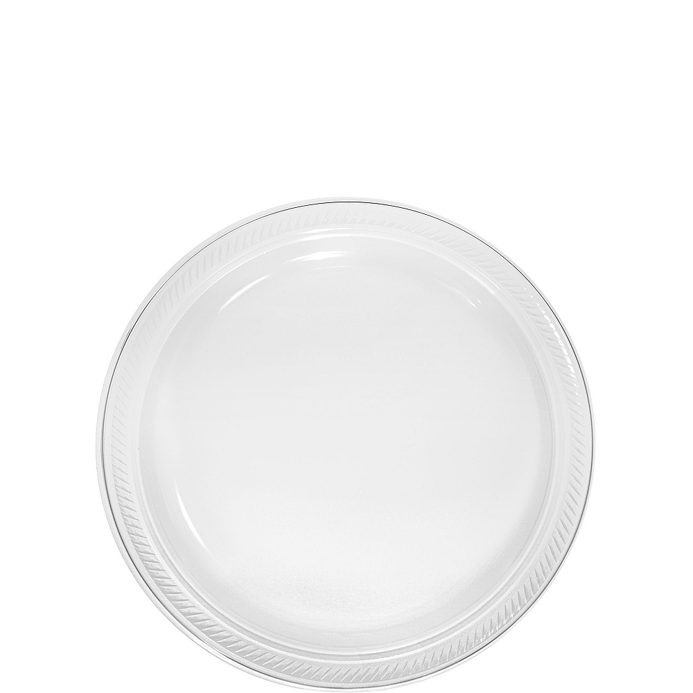 CLEAR Plastic Dessert Plates 20ct Image #1