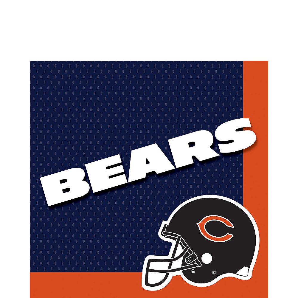 Chicago Bears Lunch Napkins 36ct Image #1