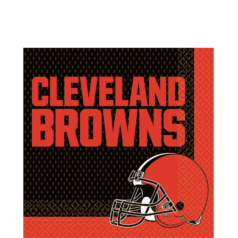 Cleveland Browns Lunch Napkins 36ct Image #1