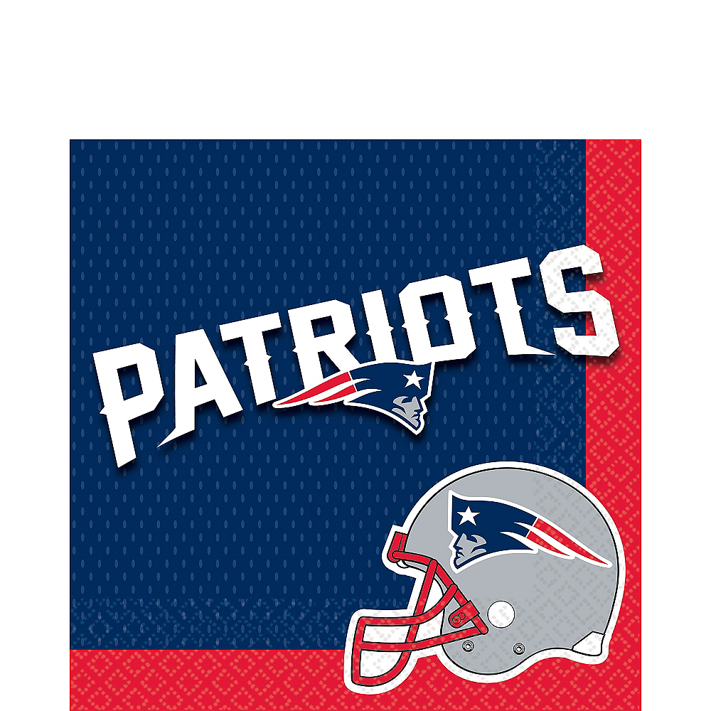 Nav Item for New England Patriots Lunch Napkins 36ct Image #1