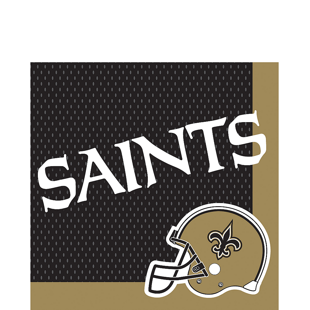 New Orleans Saints Lunch Napkins 36ct Image #1