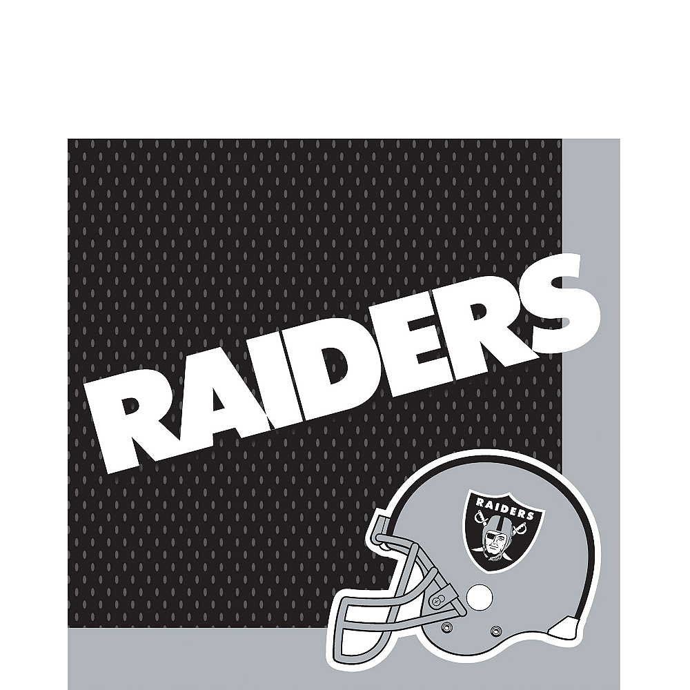 Oakland Raiders Lunch Napkins 36ct Image #1