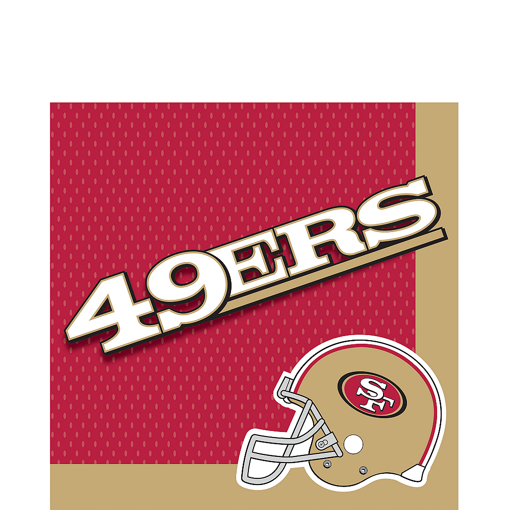 San Francisco 49ers Lunch Napkins 36ct Image #1