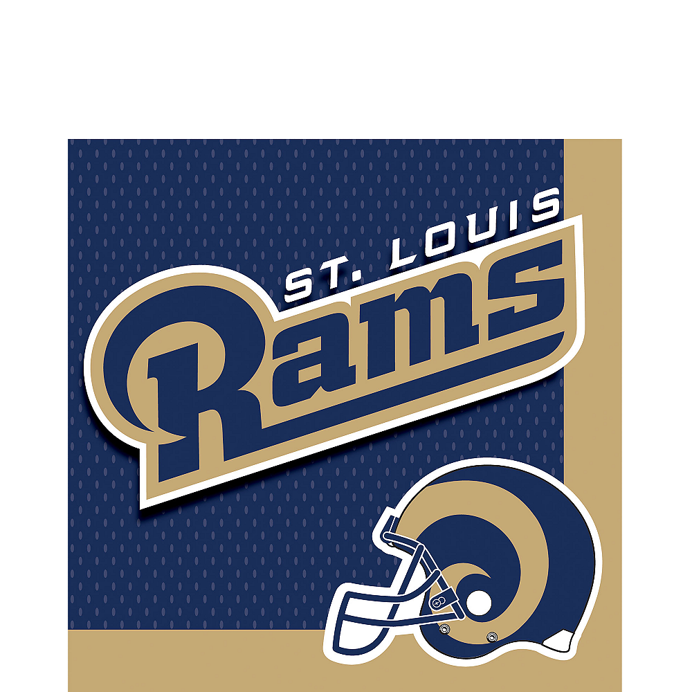 St. Louis Rams Lunch Napkins 36ct Image #1