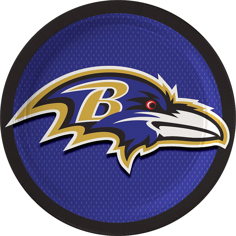 Baltimore Ravens Lunch Plates 18ct Image #1