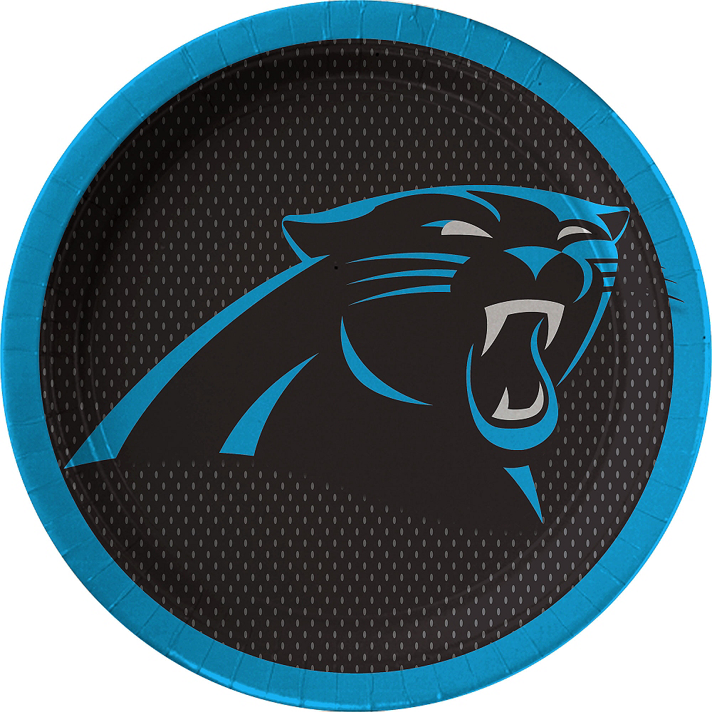 Nav Item for Carolina Panthers Lunch Plates 18ct Image #1