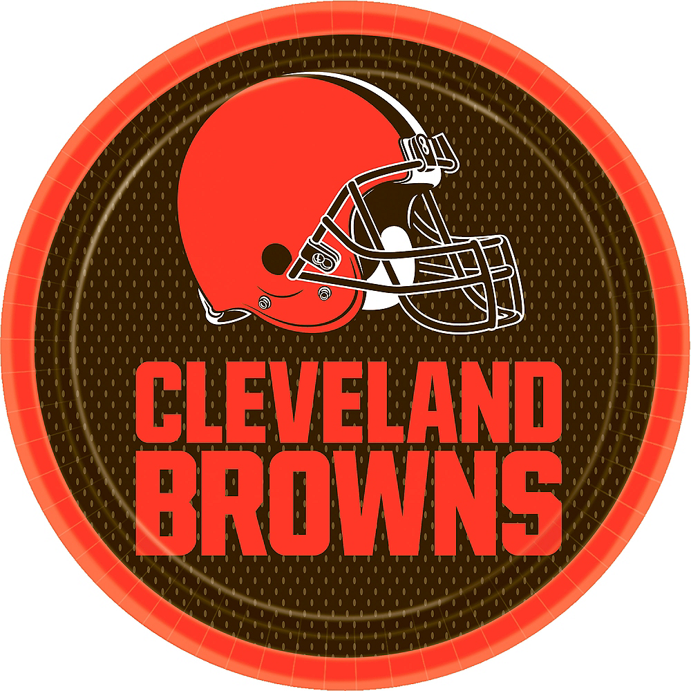 Cleveland Browns Lunch Plates 18ct Image #1