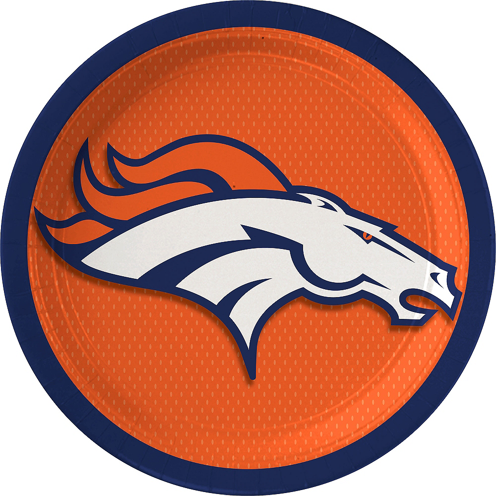Denver Broncos Lunch Plates 18ct Image #1