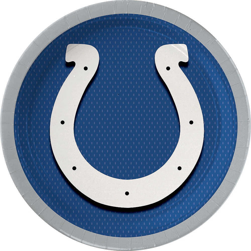 Indianapolis Colts Lunch Plates 18ct Image #1