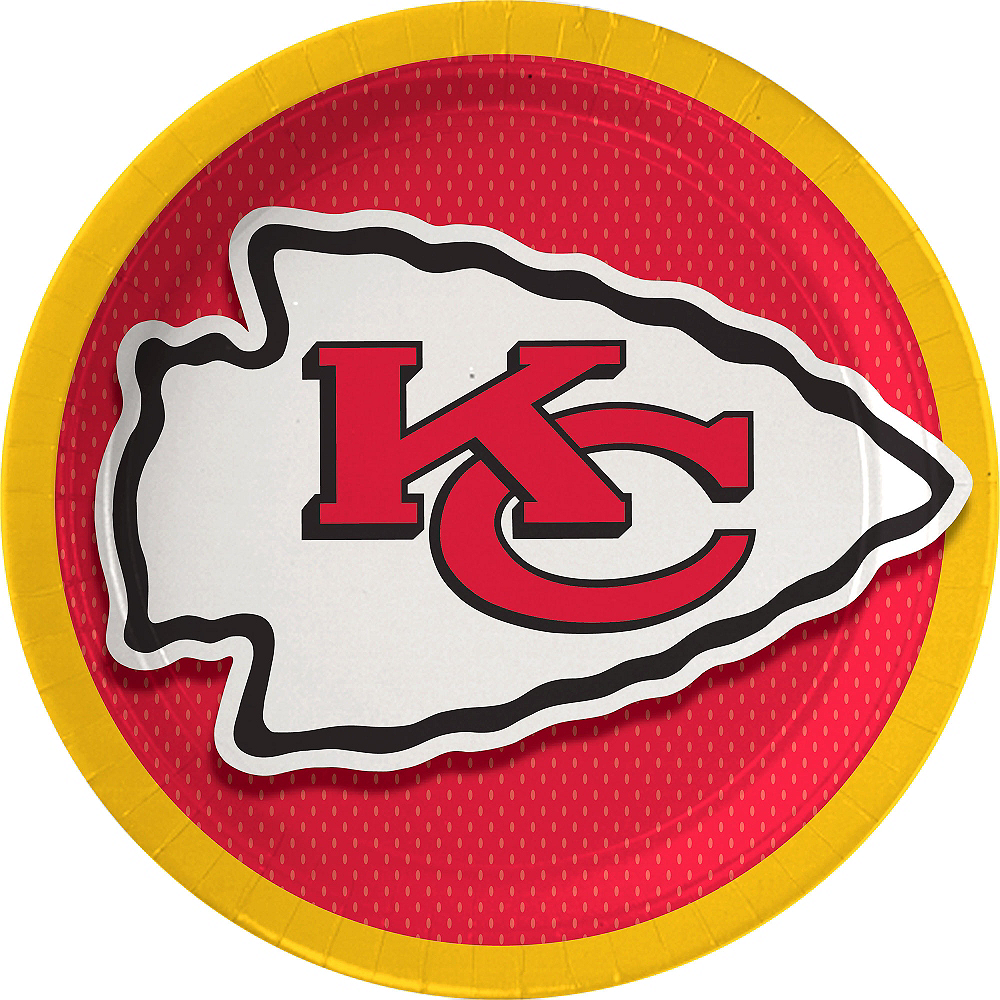 Kansas City Chiefs Lunch Plates 18ct Image #1