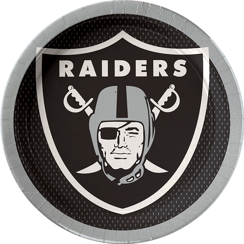 Oakland Raiders Lunch Plates 18ct Image #1