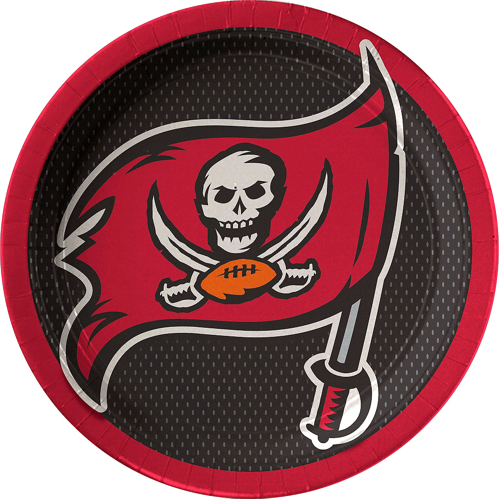 Tampa Bay Buccaneers Lunch Plates 18ct Image #1