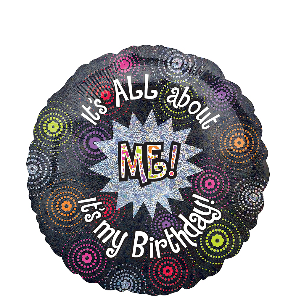 Surprising Happy Birthday Balloon 18In Its All About Me Party City Personalised Birthday Cards Bromeletsinfo