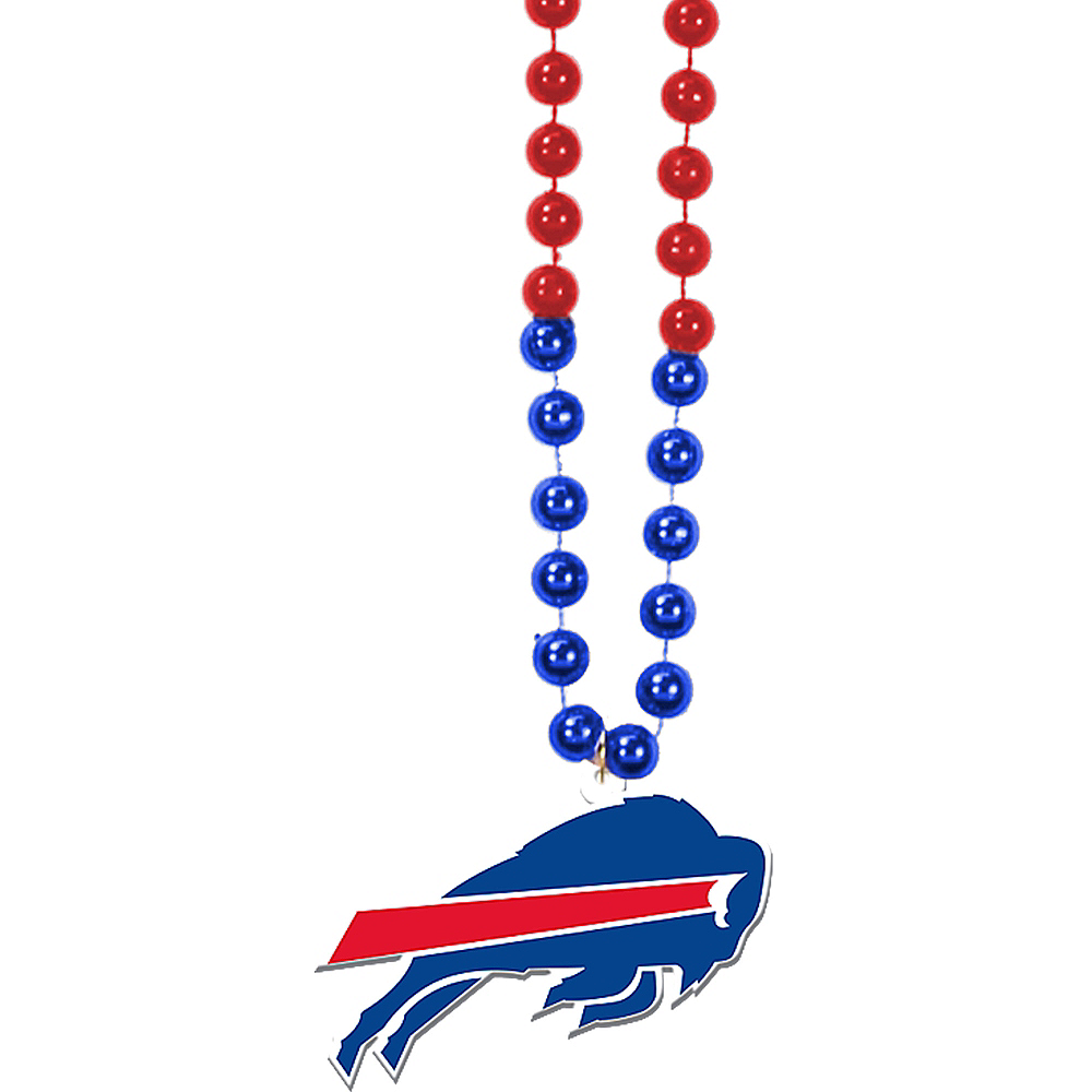 Buffalo Bills Pendant Bead Necklace Image #1
