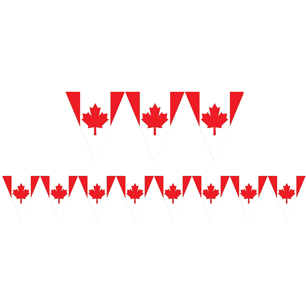 canadian flag pennant banner 12ft party city