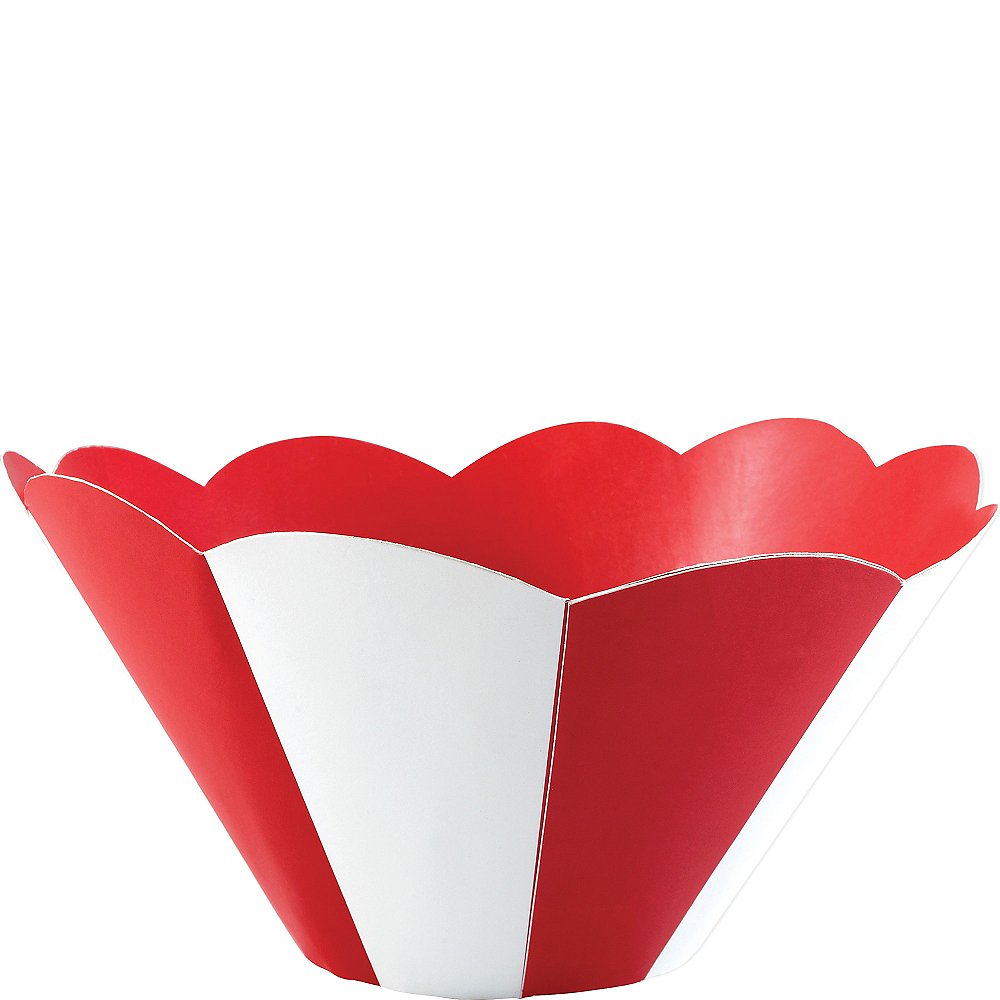 Red & White Striped Snack Bowl Image #1