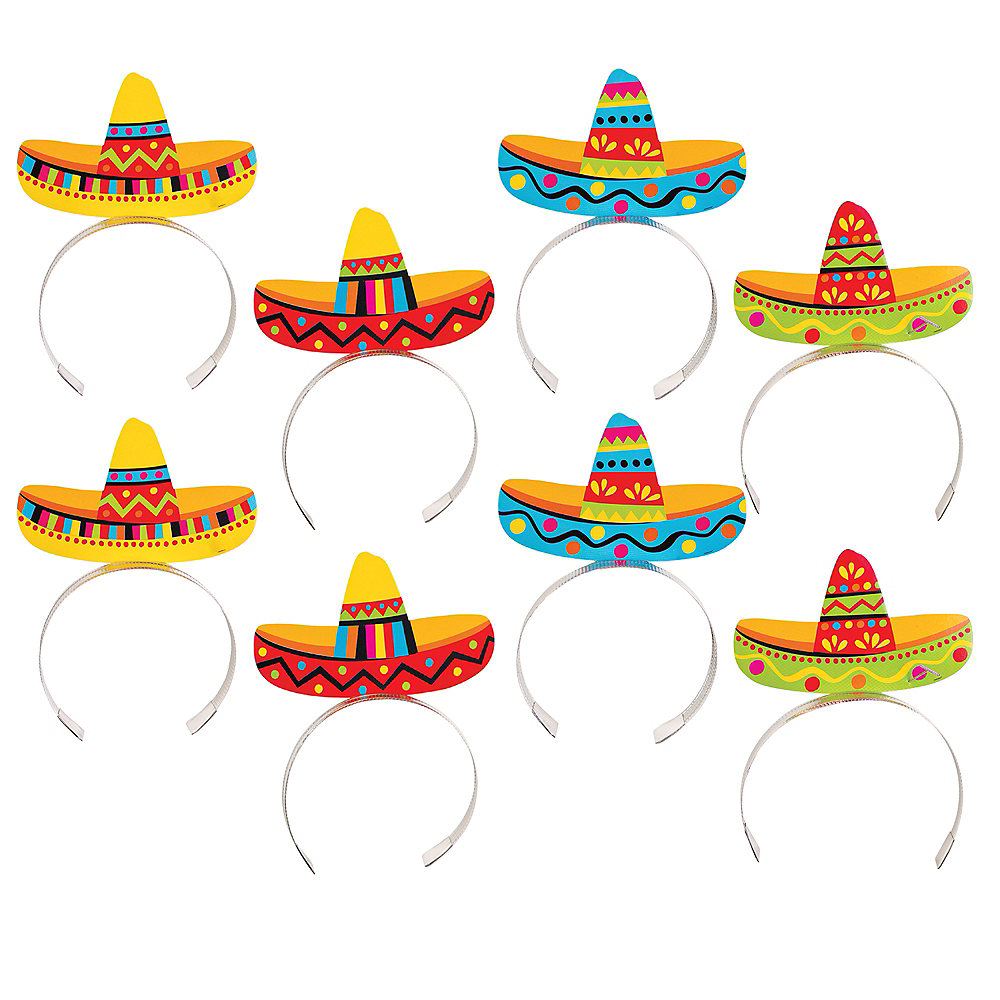 Sombrero Headbands 8ct Image #1