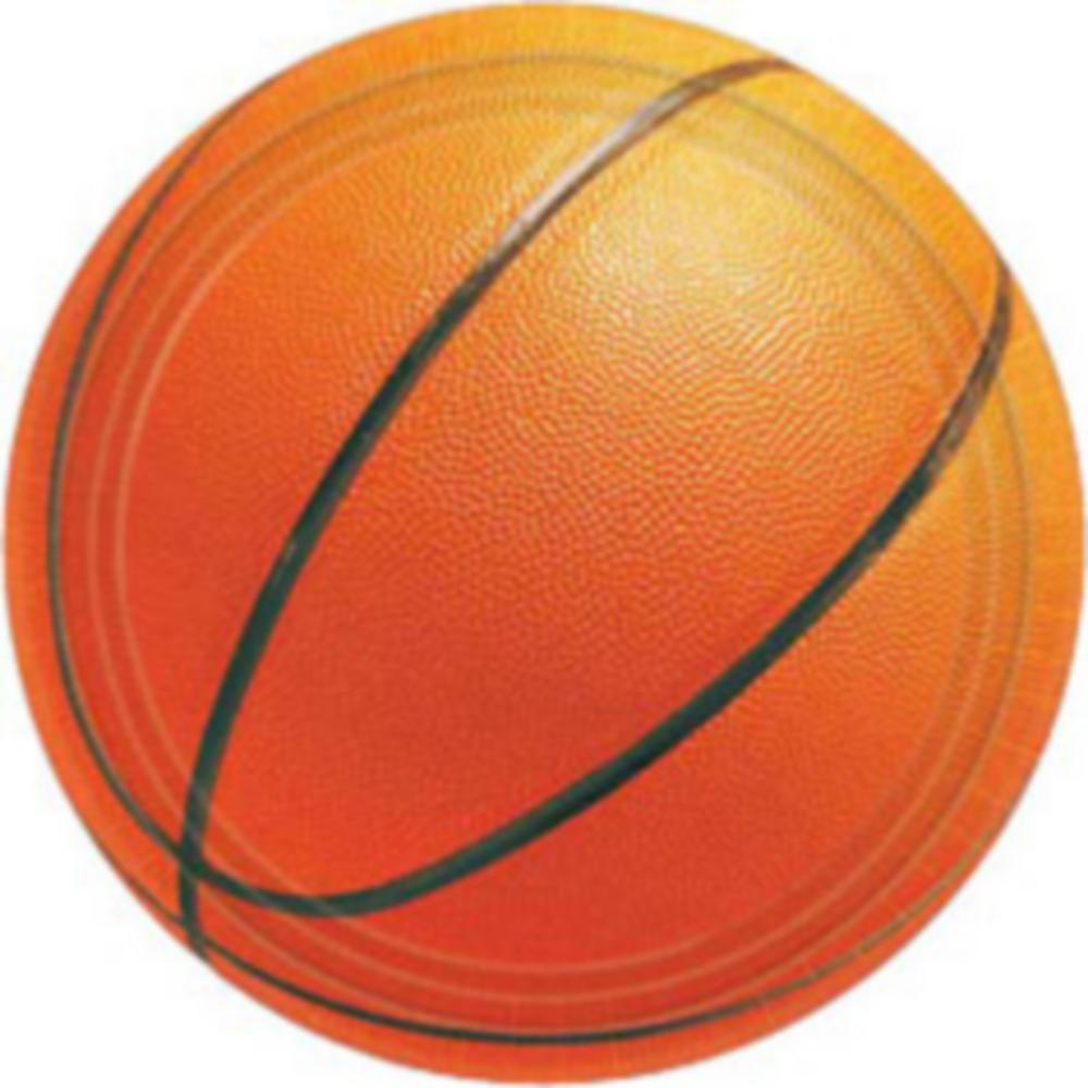 Basketball Dessert Plates 8ct Image #1