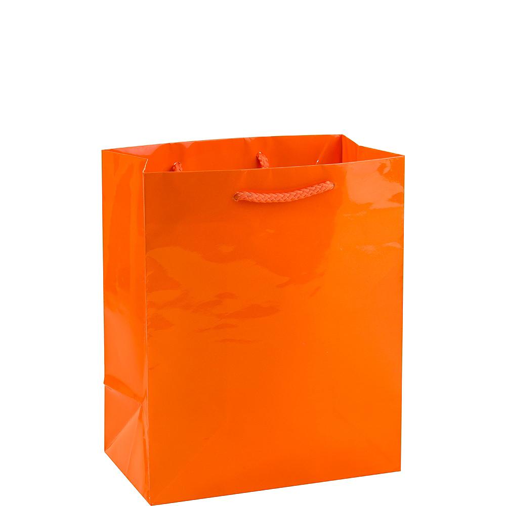 Medium Glossy Orange Gift Bag Image #1