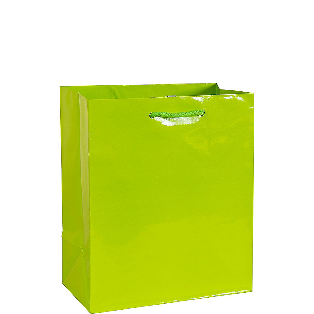 Medium Glossy Kiwi Gift Bag Image #1