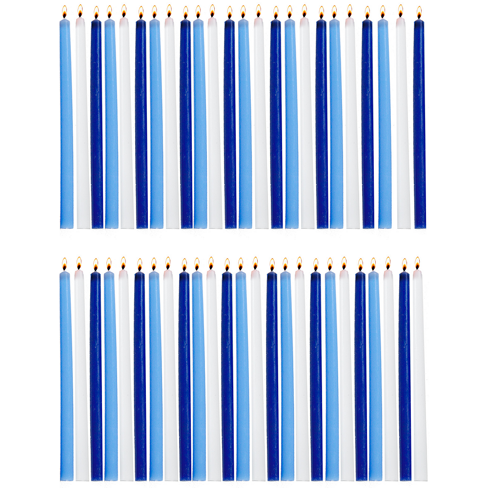 Nav Item for Tall Blue & White Hanukkah Candles 45ct Image #1