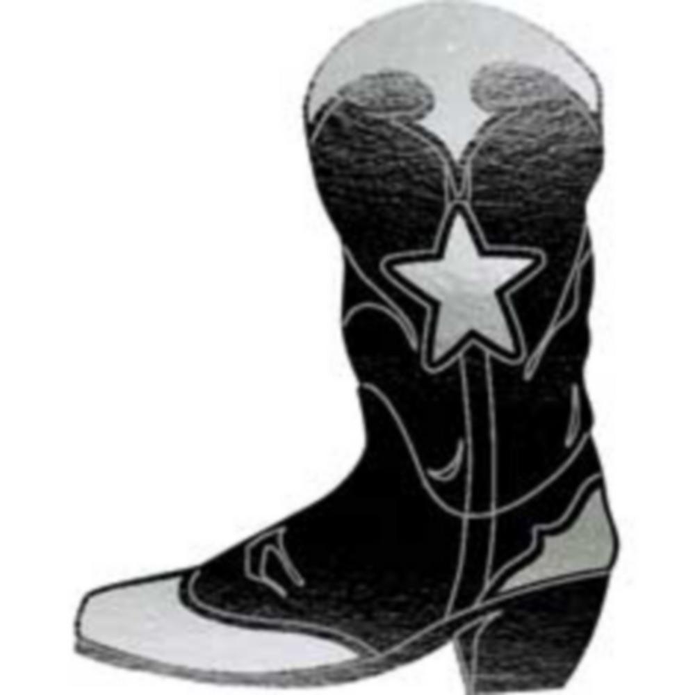 Black Cowboy Boot Cutout Image #1