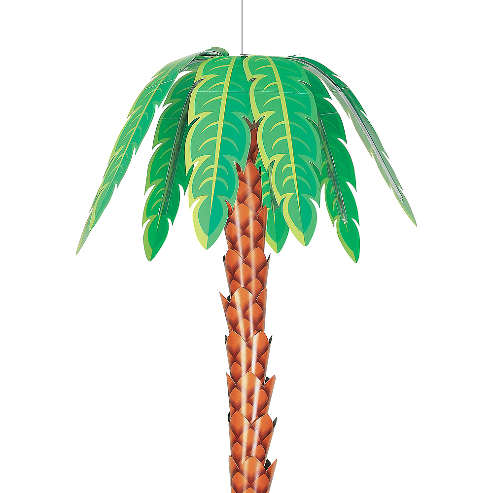 Hanging 3d Palm Tree Decoration 8in X 32in Party City