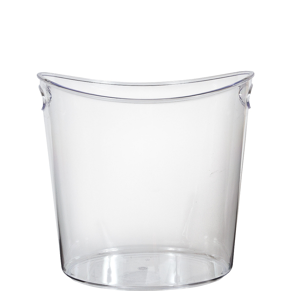CLEAR Plastic Oval Ice Bucket Image #1