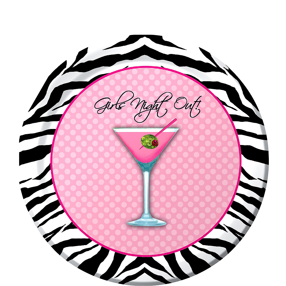 Sassy & Sweet Girls Night Out Dessert Plates 8ct Image #1