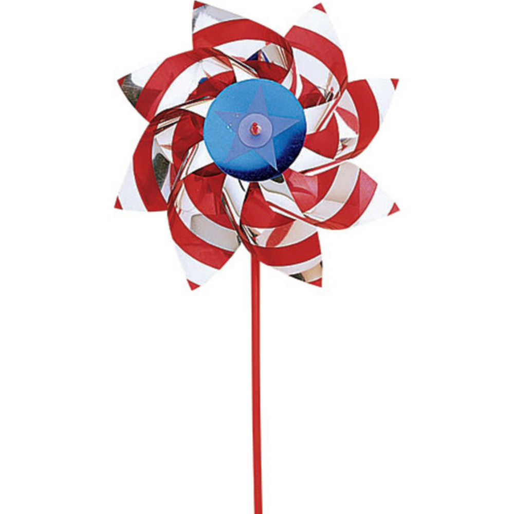Patriotic Red, White & Blue Pinwheel Image #1
