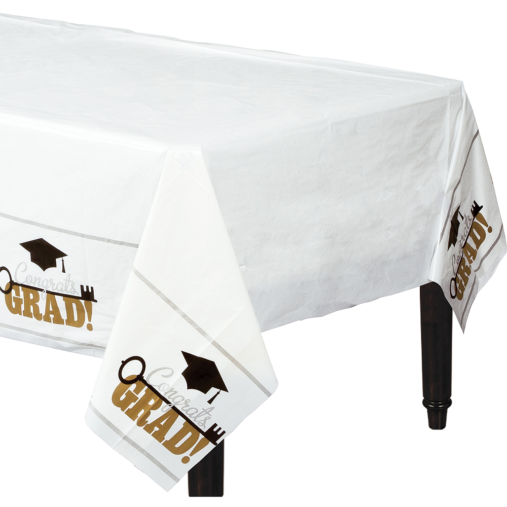 Key to Success Graduation Plastic Table Covers 3ct Image #1