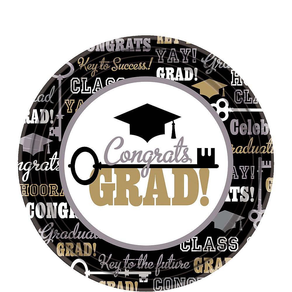 Key to Success Graduation Dessert Plates 60ct Image #1